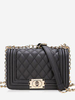 Diagonal Lattice Chain Shoulder Bag