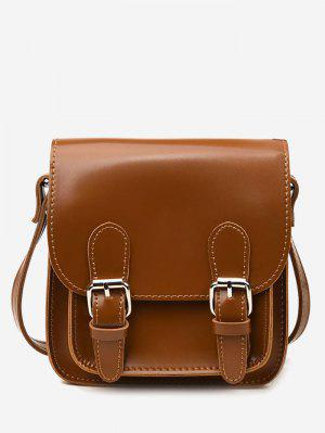 Flap Double Buckles PU Leather Crossbody Bag