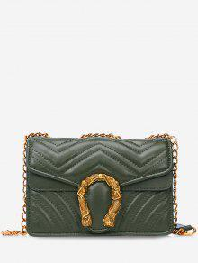 خياطة رفرف حقيبة معدنية كروسبودي - أخضر