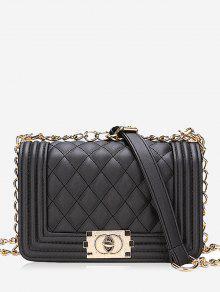 قطري شعرية سلسلة حقيبة الكتف - أسود