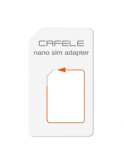 outfit CAFELE 4 in 1 SIM Card Adapter Micro + Dual Nano Kit with Eject Pin - WHITE  Mobile