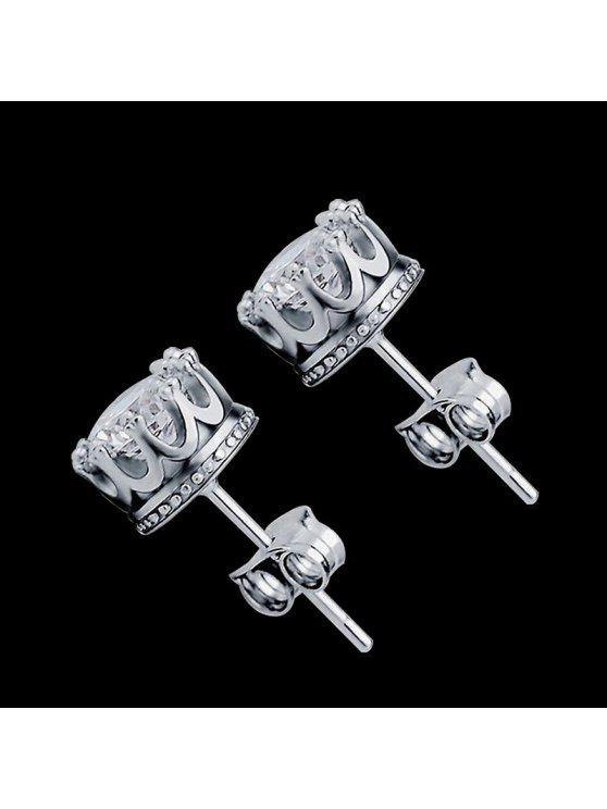 latest Women Stud Earrings Crystal Stud Earrings Women casual Party Earring Girls Gift Earrings - SILVER