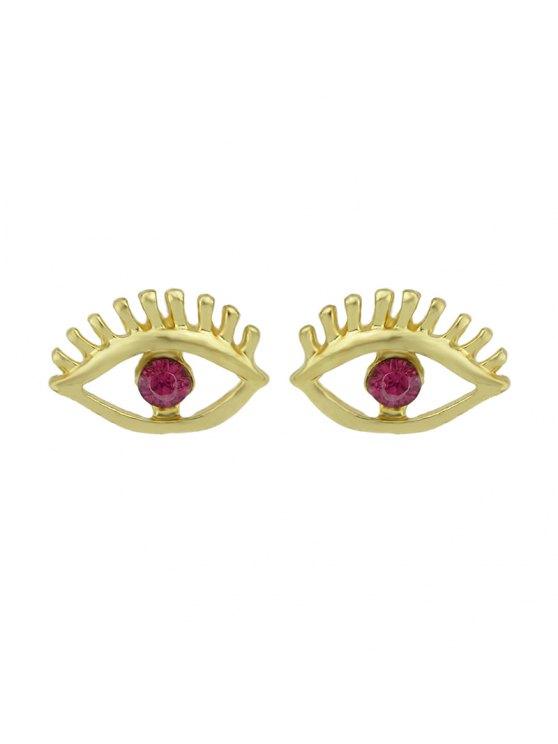 shop Simple Geometry Earrings Sweet Earrings Female Asymmetric Earrings - RED