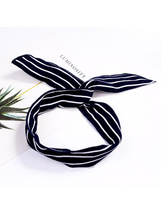 lady Fashion Plaid Knot Headband Turban Elastic Hairband Head Wrap Hair Accessories for Women Girls Striped Headwear Accessories - #011