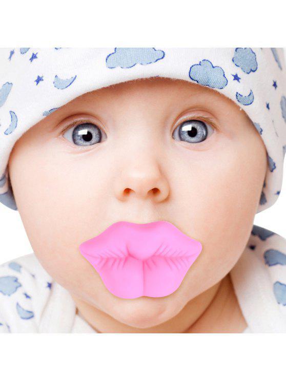 سيليكون الوردي الشفاه شكل الطفل مصاصة الرضع مصاصة - زهري