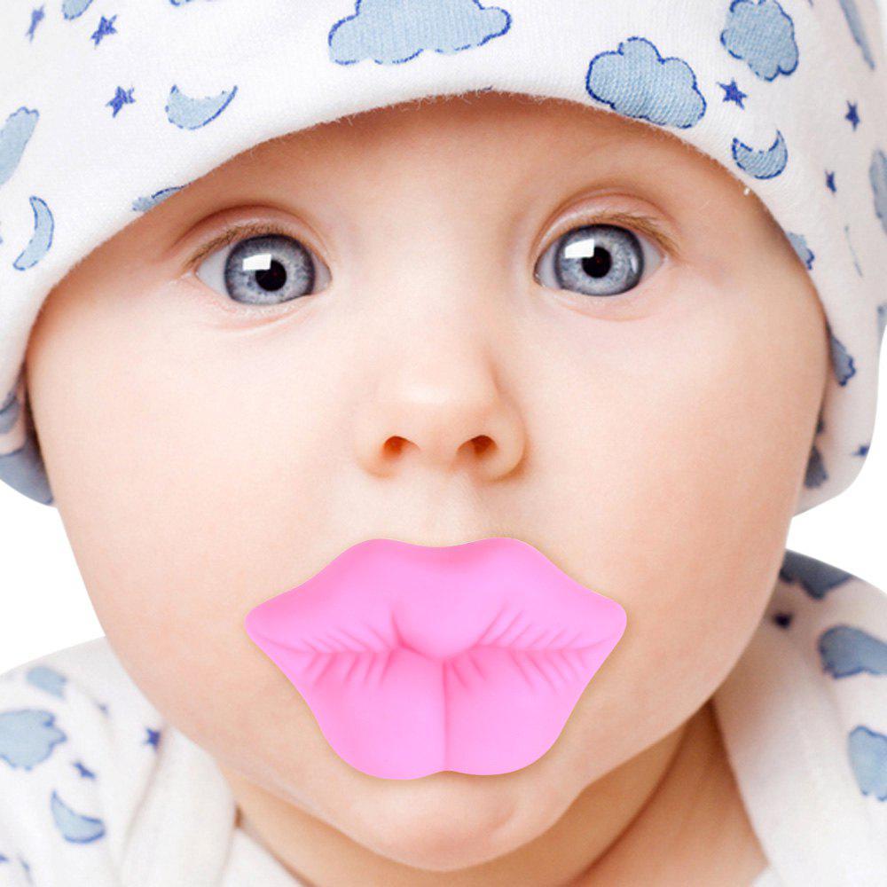 Tétine Rose de Bébé de Forme de Lèvre de Silicone