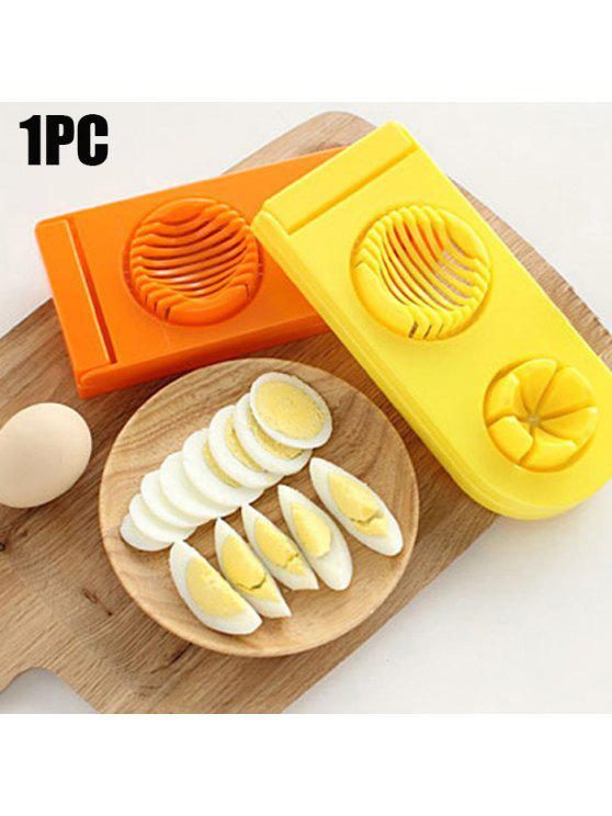 womens 2 in 1 ABS Boiled Egg Cutter Mold Multi-functional Eggshell Chopper Kitchen Gadget - COLORMIX