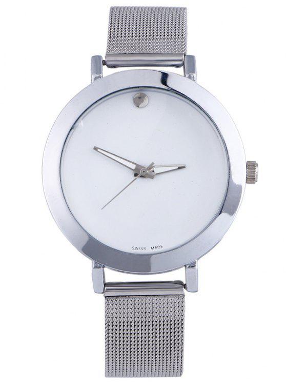 women Alloy Adorn Quartz Watch - WHITE