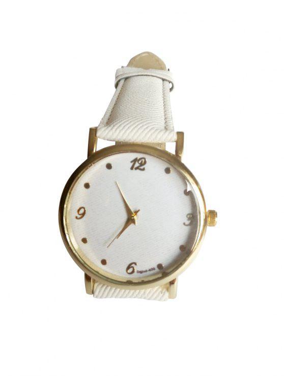 online Denim Strap Watch - WHITE