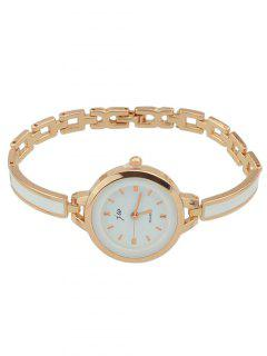 Alloy Round Dial Plate Chain Watch - Rose Gold