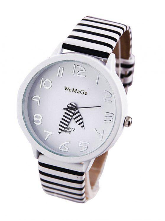 women's Stripe Pattern Watch - WHITE
