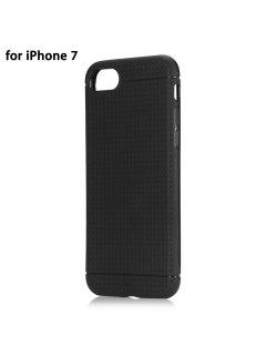 Étui Flexible De Silicone Souple De Téléphone De Conception De Polka Dots Pour L'iphone 7 Coque Mobile Ultra-Mince - Noir
