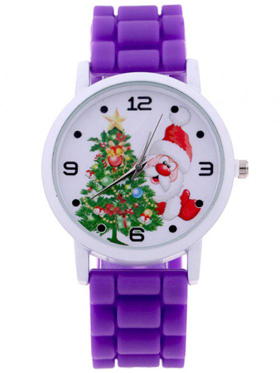 Christmas tree santa quartz watch purple watches zaful