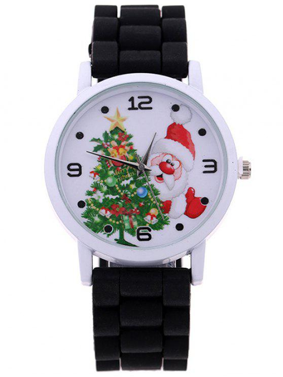 fashion christmas tree santa quartz watch black - Watch Black Christmas