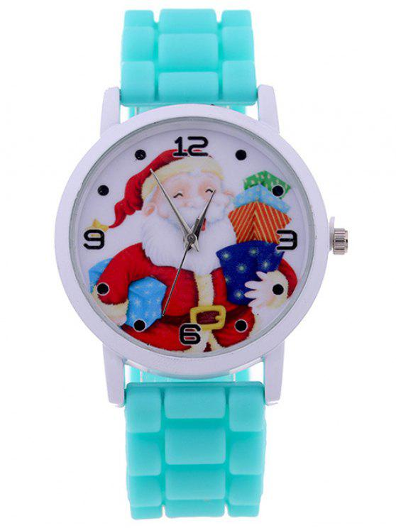 affordable Santa Christmas Gift Quartz Watch - MINT GREEN