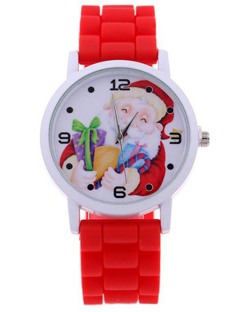 hot Santa Gift Christmas Quartz Watch - RED  Mobile