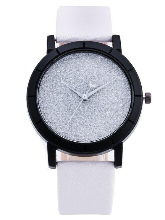 Relógio com Banda de PU - Branco