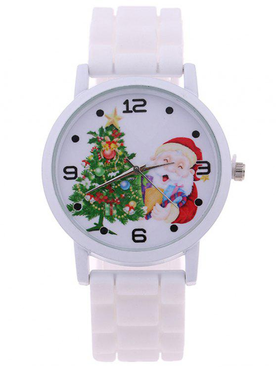 buy Christmas Tree Star Santa Children Watch - WHITE