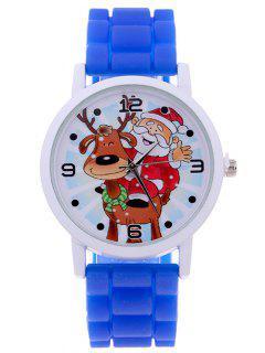 Smile Santa Christmas Elk Quartz Watch - Sapphire Blue