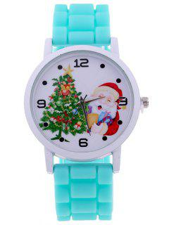 Christmas Tree Star Santa Children Watch - Mint Green