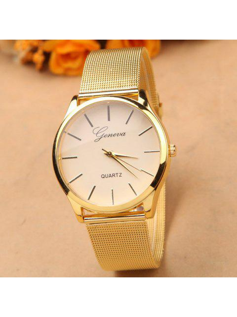 outfits Alloy Steel Band Quartz Watch - GOLDEN  Mobile