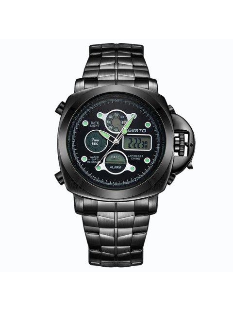 best GIMTO Stainless Steel Quartz Watch - BLACK  Mobile