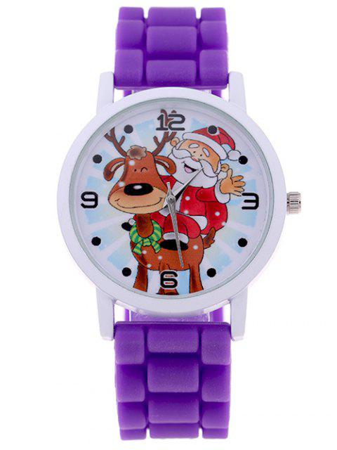 chic Smile Santa Christmas Elk Quartz Watch -   Mobile