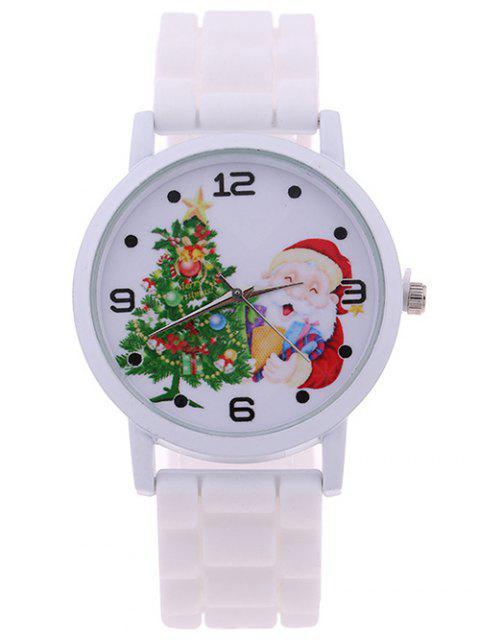 buy Christmas Tree Star Santa Children Watch - WHITE  Mobile
