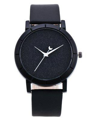 PU Leather Baby Breath Moon Quartz Watch