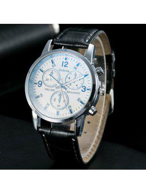 Analog Dial Plate PU Leather Quartz Watch