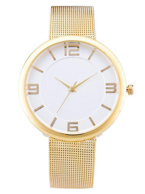 womens Soft Surface Mesh Belt Table Quartz Watch -   Mobile