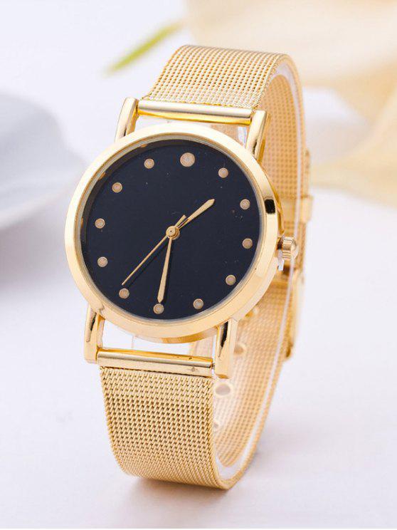 trendy Vintage Quartz Analog Watch - GOLDEN