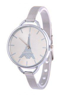 Eiffel Tower Quartz Alloy Watch - Silver