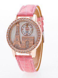 Arco Triunfal Torre Eiffel Diamante De Imitación De Reloj - Rosa