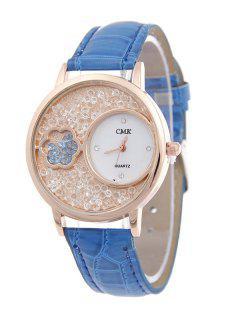 Floral Natural Beads Quartz Watch - Blue