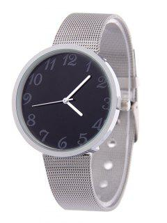 Steel Band Analog Alloy Quartz Watch - Black