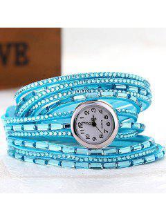 Quartz Bracelet Montre Avec Strass - Azur