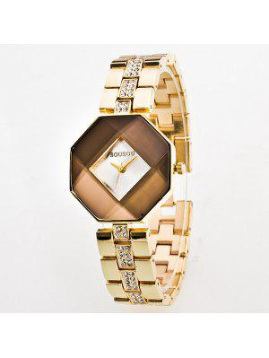 Rhinestone Geometric Quartz Analog Watch