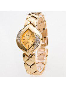 Buy Vintage Rhinestone Moon Leaf Quartz Watch - GOLDEN