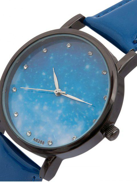 unique Rhinestone Faux Leather Starry Sky Watch -   Mobile