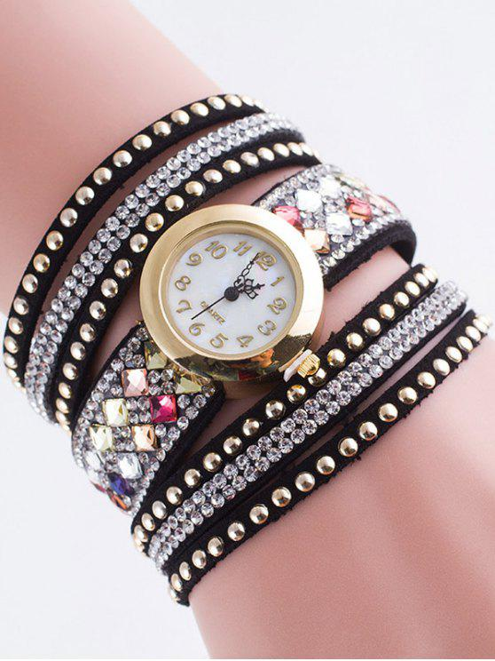 Bracelet Montre avec Rivet - Noir