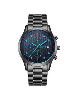 GIMTO Steel Band Analog Quartz Wrist Watch - Blue