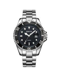 GIMTO Rhinestone Roman Numerals Analog Wrist Watch - Silver And Black