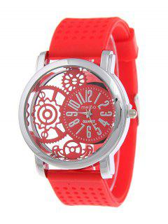 Silicone Roman Numerals Watch - Red