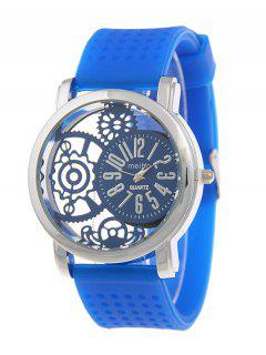 Silicone Roman Numerals Watch - Royal Blue