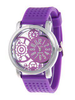 Silicone Roman Numerals Watch - Purple