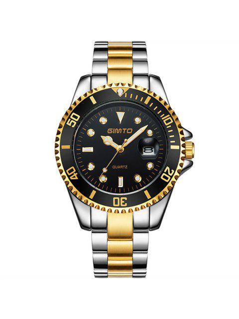 womens GIMTO Rhinestone Roman Numerals Analog Wrist Watch - BLACK AND GOLDEN  Mobile