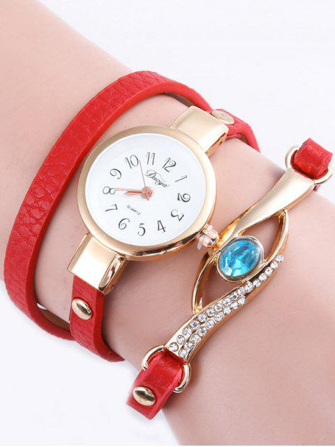 fashion Layered Polished Eye Watch -   Mobile