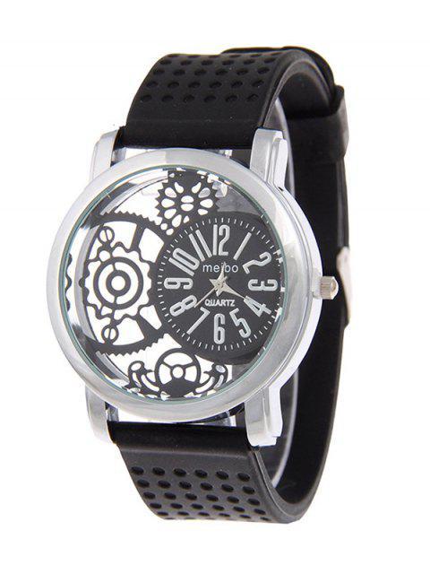 sale Silicone Roman Numerals Watch - BLACK  Mobile