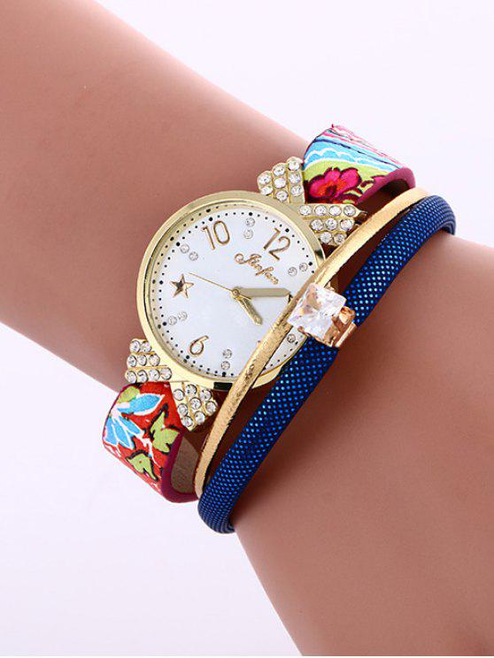 ladies Faux Leather Wrist Watch - SAPPHIRE BLUE